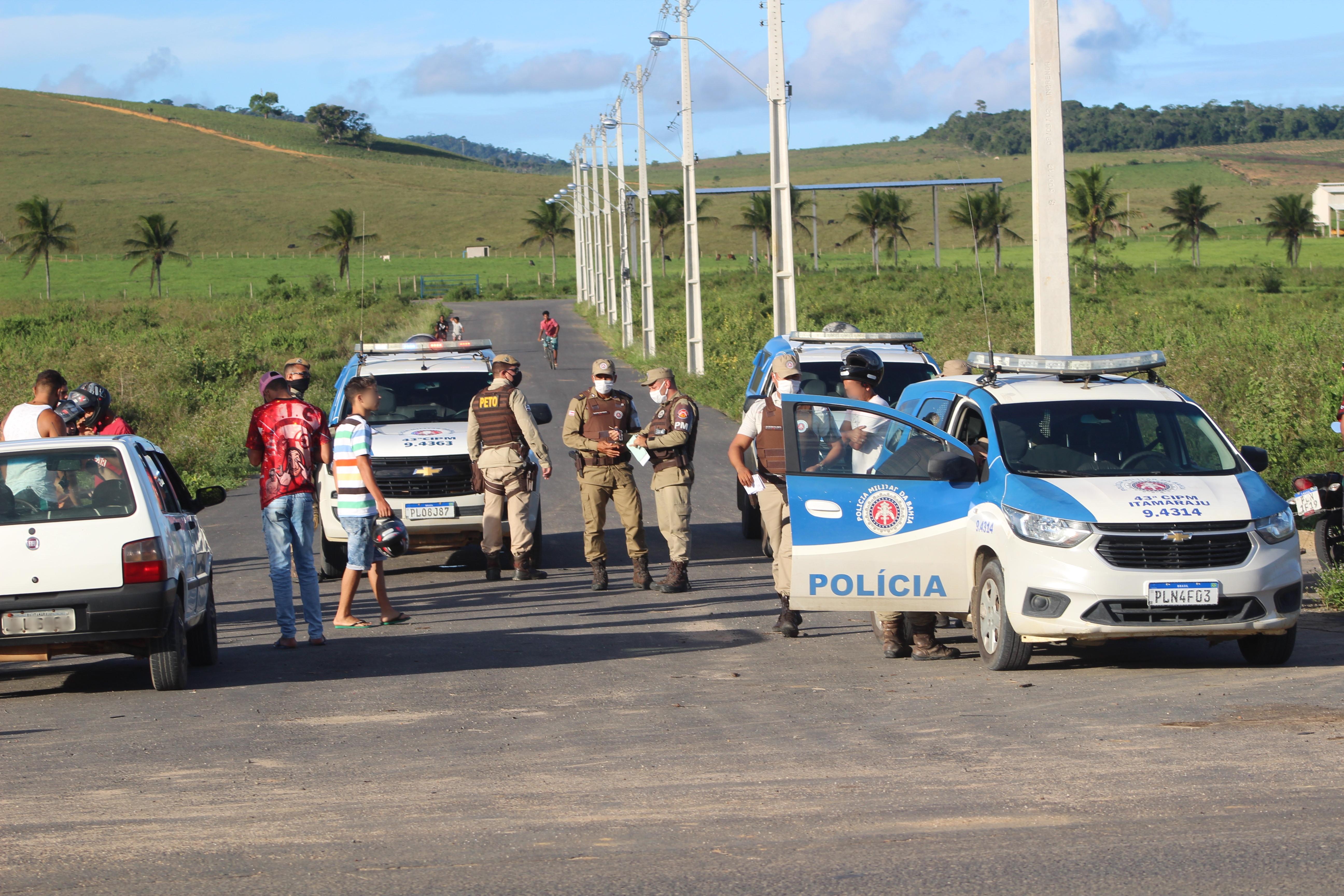 Operação Conjunta entre forças de segurança encerra racha em área industrial de Itamaraju e motos são apreendidas