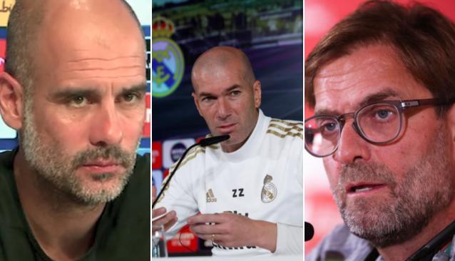 Guardiola e Klopp criticam criação da Superliga; Zidane fica