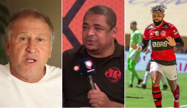 Vampeta polemiza ao montar top 3 da história do Flamengo; assista